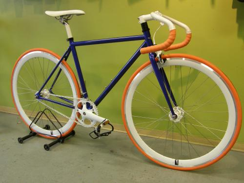 Blue Fixie by Single Bike Co