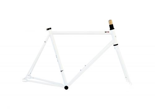 Single Speed Frameset White