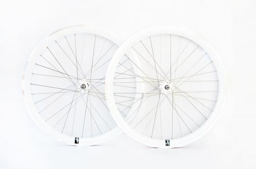 White single speed wheelset
