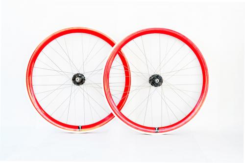 Red Single Speed wheelset