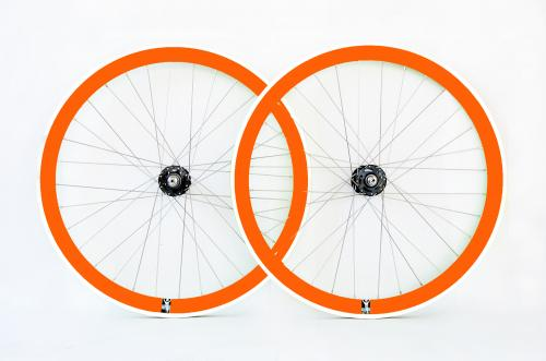 Orange Single speed wheelset