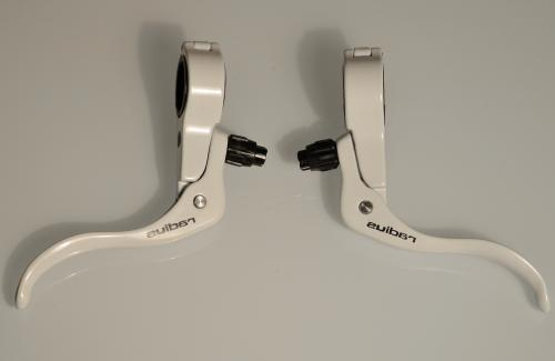 white brake levers