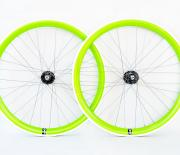 Lime Green single speed wheelset