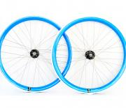 Blue Single speed wheelset